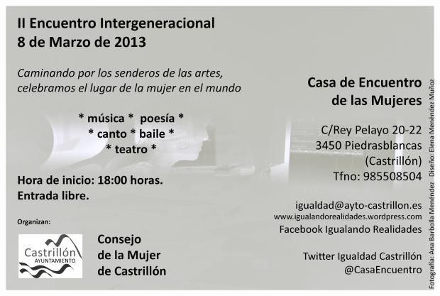 Difusión II Encuentro intergeneracional 8Marzo2013