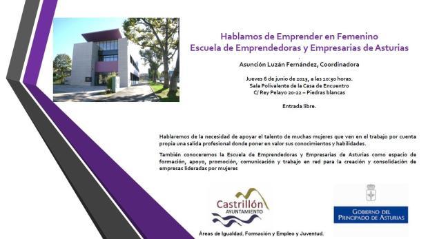 charla 06junio2013 Escuela Empr
