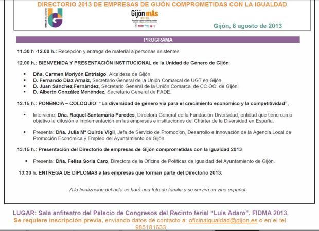 jornada directorio empresas igualdad gijon 2013