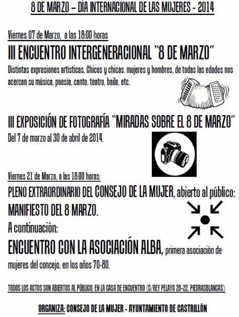 8 marzo 2014 cartel