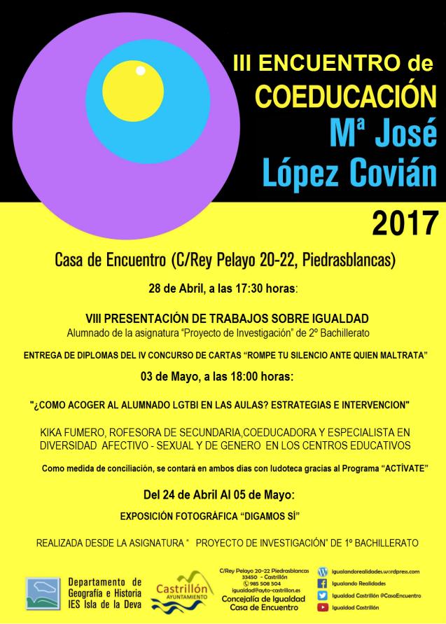 III ENCUENTRO DE COEDUCACION Mª JOSE LOPEZ COVIAN
